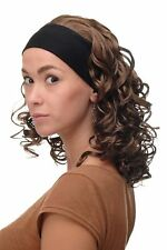 PERRUQUE pour femme bandeau volumineux boucles marron brun moyen bro-704-12
