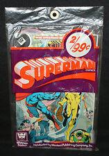 Superman 2pc Comic Book Pre-Pack by Whitman (Sealed) Action / Sman Adam Strange