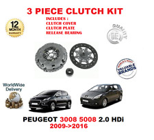 FOR PEUGEOT 3008 5008 2.0 HDI 2009>2016 CLUTCH KIT WITH COVER PLATE + BEARING