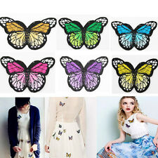 10X Embroidery Butterfly Sew On Patch Badge Embroidered Fabric Applique DIY Sale