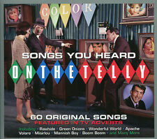 SONGS YOU HEARD ON THE TELLY - 3 CD BOX SET - RAW HIDE, GREEN ONIONS & MORE