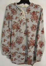 No Comment women Plus size 1X Multicolor floral Hoodie long sleeve NWT Lot#21