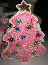 BETSEY JOHNSON ONE SMART COOKIE PINK CHRISTMAS TREE THAT LIGHTS  CROSSBODY PURSE