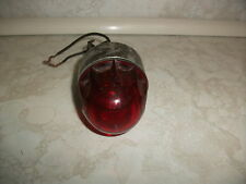 Vintage Pyle National PON Series Signal Beacon Test Light Red Bullet Globe RARE