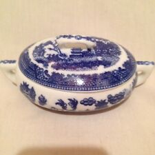 BLUE WILLOW CHILD'S OVAL TUREEN WITH LID PRICE REDUCED!!