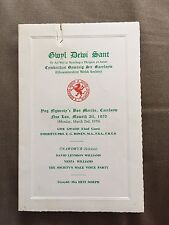 VINTAGE 1970 GLOUCESTERSHIRE WELSH SOCIETY MENU