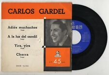 CARLOS GARDEL Adiós Muchachos 1955 Spain EP 1965 Reissue Odeon DSOE 16.044 tango