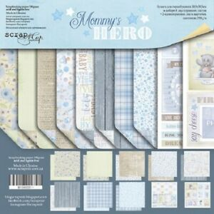 """12"""" x 12"""" scrapbooking paperpad  Mommy's Hero 10 sheets 190gsm"""