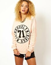 ASOS Sweatshirt Sweater Oversized Pullover Sport Brooklyn NYC New York UK4 32