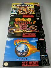 Pinball Fantasies, Behind The Mask, Dreams SNES Super Nintendo Complete Manuals