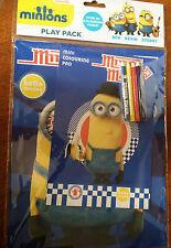BNIP New Despicable Me Minions Mania Play Pack -Colouring Pad Mini Pad 4 Pencils