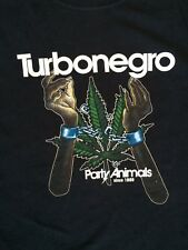 Turbonegro Party Animals Tour  T-Shirt  Weed Crimes.  Rare Shirt. Good Condition