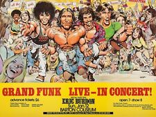 "Grand Funk Railroad Barton 16"" x 12"" Photo Repro Concert Poster"