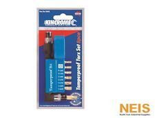 "Kincrome Tamperproof Bit Set 8 Pce Torx sizes T10-H - T-40H 1/4"" Hex Drive 13645"