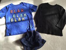 3 pc BOYS LOT baby gap BLAH SHIRT sun hat visor L/S BLACK SHIRT THERMAL size 3T