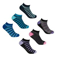 3 Pairs Womens Bamboo Trainer Socks Ladies Sports Gym Ankle Liner Anti Bacterial