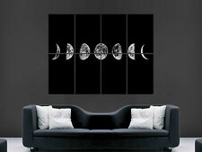Moon phases space art mural grande image giant poster!