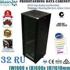 "32RU 32U 19"" 19INCH 600x600x1610MM SERVER CABINET NETWORKING DATA RACK 4 FANS"