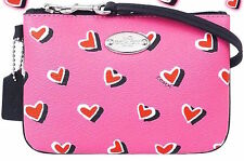 Coach Limited Edition Heart Print Small Wristlet F52560 NWT