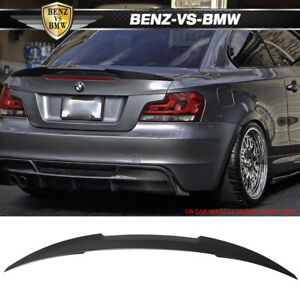 USA STOCK 07-13 E82 1 Series Coupe M4 Style Unpainted Trunk Spoiler - ABS