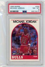 1989-90 NBA Hoops #200 Michael Jordan PSA 8 Graded Basketball Card Bulls