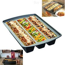 Lasagna Trio Pan Kitchen Bakeware Nonstick Coating Lasagna Baking Pan Silver