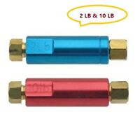 "2lb & 10lb Residual Valves For Disc Drum Brakes Check Valve 3/8-24"" Fittings"