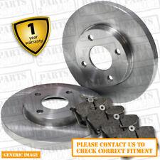 Rear Brake Pads + Brake Discs Set 234mm Solid Fits Kia Picanto 1.1 1.1 CRDi