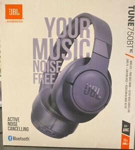 JBL TUNE 750BTNC Noise-Canceling Wireless Over-Ear Headphones Blue Brand New