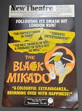 "c1976 New Theatre Cardiff Flyer ""The Black Mikado"" Gilbert & Sullivan"