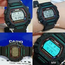 Reloj Cronógrafo Casio DW290-1V Correa de resina negra alarma día/fecha Reloj para Hombres Nuevo