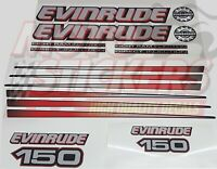 Evinrude 150 - ficht ram injection - kit adesivi calotta nera fuoribordo
