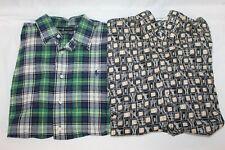Lot of 2 Mens Dress Button Down Shirts Size Large Burma Bibas Polo EUC