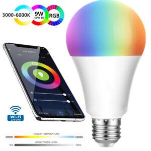 Wifi Smart Light Bulb RGB Remote APP Voice Control Alexa Google Home LED E27 9W