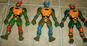 3 TEENAGE MUTANT NINJA TURTLES Super Mutants Figure Lot Ralph Leo Mike RARE 1994