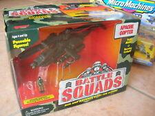 MICROMACHINES BATTLE SQUADS HELICO APACHE+1 SOLDATS!!
