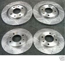 PEUGEOT 206 GTI DRILLED GROOVED FRONT REAR BRAKE DISCS