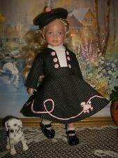 Poodle Skirt and Hat Set for Tonner Mrs. Willowby's First Grade Class Dolls