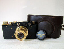 LEICA-II(D) LUFTWAFFE WWII VINTAGE RUSSIAN 35mm RF BLACK Photo CAMERA EXCELLENT