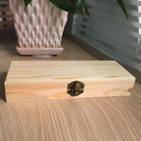 Small Wooden Boxes Plain Wood Storage Box Chest Lid Handle Keepsake Trunk Gift