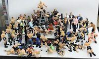 "57x Vintage WWF Wresting 7"" Action Figures w Ring Jakks Pacific Mattel Job Lot"