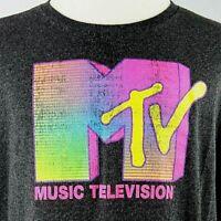 MTV T-Shirt Music Television Unisex 2XL MTV Brand Licensed Retro Style