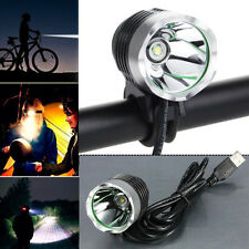 3000LM XML T6 USB Interface LED Bike Bicycle Light Headlamp Headlight US Stock
