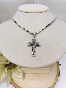 David Yurman 925 box / Diamond unbranded cross