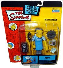 Simpsons Moe Szyslak Bartender Action Figure WOS MOC Repaint RARE Toy Playmates!