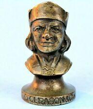 BRONZE CHRISTOPHER COLUMBUS HEAD KOC SWORD TOPPER 1920's GLEASON & CO CHICAGO