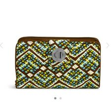 Vera Bradley FRID Turn Lock Wallet in Rain Forest NWT Fast Shipping
