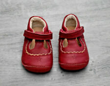 BABY GIRLS CLARKS SIZE 2 G RED SHOES EUR 17.5