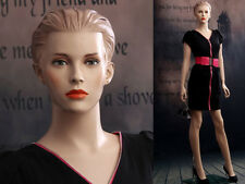 Female Fiberglass Mannequin Beautiful Face with Molded Hair Style #Ad03-Mz