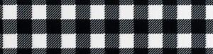 Country Brook Design®1 1/2 In. Black/White Buffalo Plaid Grosgrain Ribbon-5 Yds.